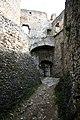 Hrad Rabí s hradním kostelem Nejsvětější Trojice, část stojící, část zřícenina a archeologické stopy (Rabí) (8).jpg