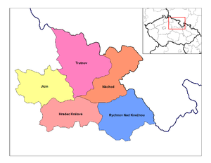 Districts of the Czech Republic - Districts of Hradec Kralove