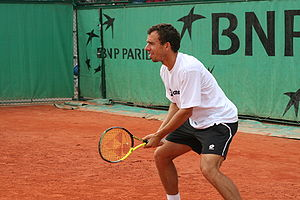 San Marino GO&FUN Open - Singles and doubles player Dominik Hrbatý from Slovakia defeated Mariano Puerta in the 1998 singles final