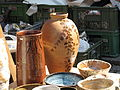 Hrnčířské trhy Beroun 2011, džbánek s dekorací.JPG
