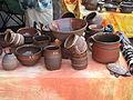 Hrnčířské trhy Beroun 2011, hnědá keramika.JPG
