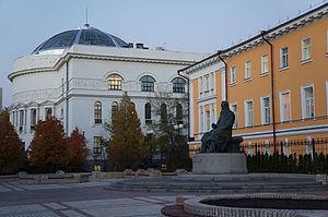 Mykhailo Hrushevsky - Mykhailo Hrushevsky monument in Kyiv