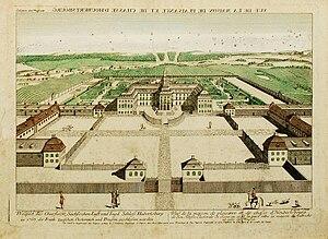 Treaty of Hubertusburg - Hubertusburg about 1763