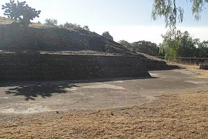 Huejotla - Structure 1, eastern access and stuccoed floor