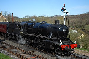 LMS Stanier Mogul - Preserved 42968 at Highley, Severn Valley Railway