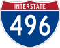Interstate 496 marker