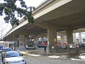 Bayshore Freeway - The San Francisco Skyway over Third Street