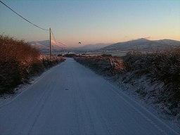IMG 9407 Rare Snow Day Main Road Valentia Island.jpg