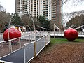 Ice skating rink and Christmas decorations in Kleman Plaza Jan 2015.JPG