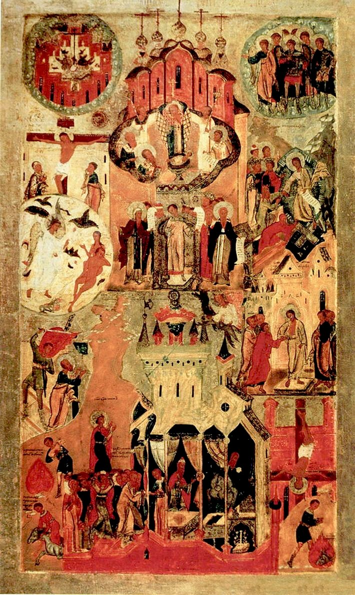 Icon of Renovation of the Church of the Resurrection in Jerusalem