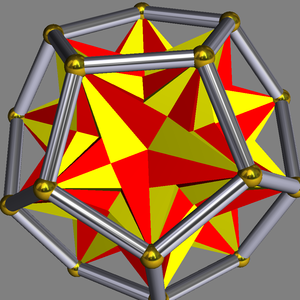 Compound of ten tetrahedra - Ten tetrahedra in a dodecahedron.