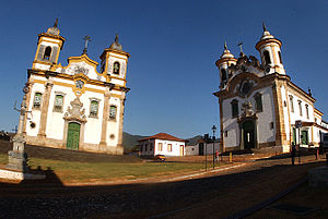 Mariana, Minas Gerais - Colonial churches in Mariana downtown.