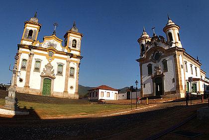 Igrejas no município de Mariana, Minas Gerais, Brasil. 22 de agosto de 2006, foto:Valter Campanato)