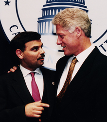 Ijaz with President Bill Clinton in June 1996