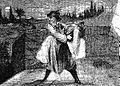 Il traîna le cadavre jusqu'a la galerie et le lança dans le gouffre (Pierre Zaccone, La Lanterne rouge, 1873).jpg