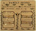 Illustrated family record (Fraktur) found in Revolutionary War Pension and Bounty-Land-Warrant Application File... - NARA - 300090.jpg