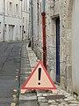 Imitation de panneau A14 en bois à Saintes (Charente-Maritime).JPG