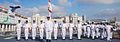 Indian Navy officers and band during a parade in 2009.jpg
