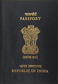 The front cover of a contemporary Indian passport.