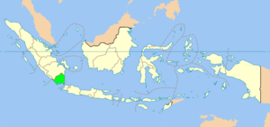 Map showing Lampung province in Indonesia