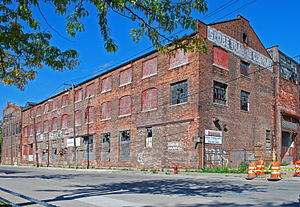 English: Industrial Loft Building at Detroit D...
