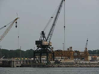 Cape Charles, Virginia - Industrial landscape in Cape Charles