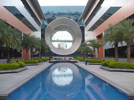 The headquarters of Infosys, India's second largest IT company, is located in Bangalore Infosys India.JPG