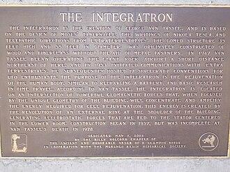 Integratron - Historical marker near the Integratron
