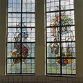 Interieur, trappenhuis, glas in loodraam - Egmond aan Zee - 20361294 - RCE.jpg