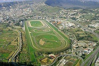 Agnano - Agnano Racecourse showing the crater edges at the rear