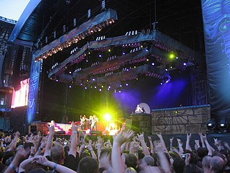 Twickenham Stadium - An Iron Maiden concert in 2008.