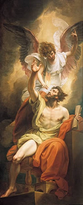 Prophet - Prophetic inspiration: Isaiah's Lips Anointed with Fire, by Benjamin West