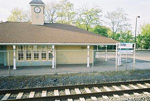 Islip (LIRR station) - Islip Station House as seen from the eastbound platform
