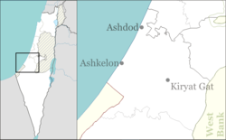Berekhya is located in Ashkelon region of Israel