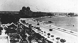 "Benghazi - The colonial Italians created the ""Lungomare"" (sea-walk) of Benghazi and constructed many other buildings"