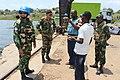 Ituri, DR Congo- Contingent Commander of Bangladeshi Battalion of MONUSCO visiting FARDC Naval Base at Kasenyi.jpg