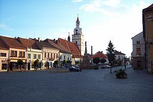 Ivančice - Image: Ivančice celkový pohled na Palackého náměstí od východu
