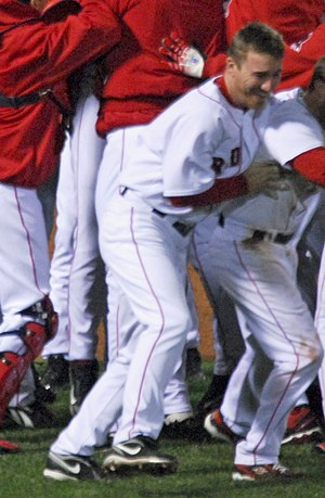 J. D. Drew - Drew celebrating a Red Sox 2008 playoff victory