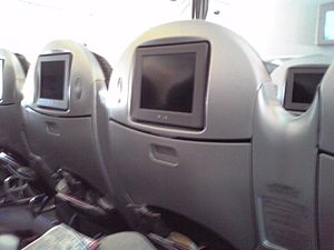 "Premium economy - Premium economy ""shell"" seats on Japan Airlines."