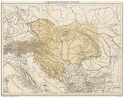 JIREČEK(1893) – Karte 1. Das älteste bekannte Zeitalter.jpg
