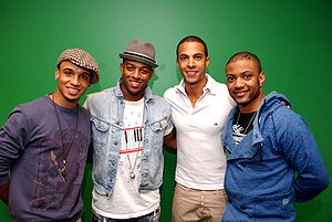 Marvin Humes - JLS Performs at KISS FM 103.5 Chicago Radio on 20 April 2010.