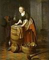 Jacob van Spreeuwen (attr) Kitchen with a young woman polishing brass.jpg