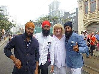 Jagmeet Singh - Singh at Labour Day Parade in 2014