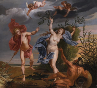 Jan van Cleve (III) - Apollo and Daphne