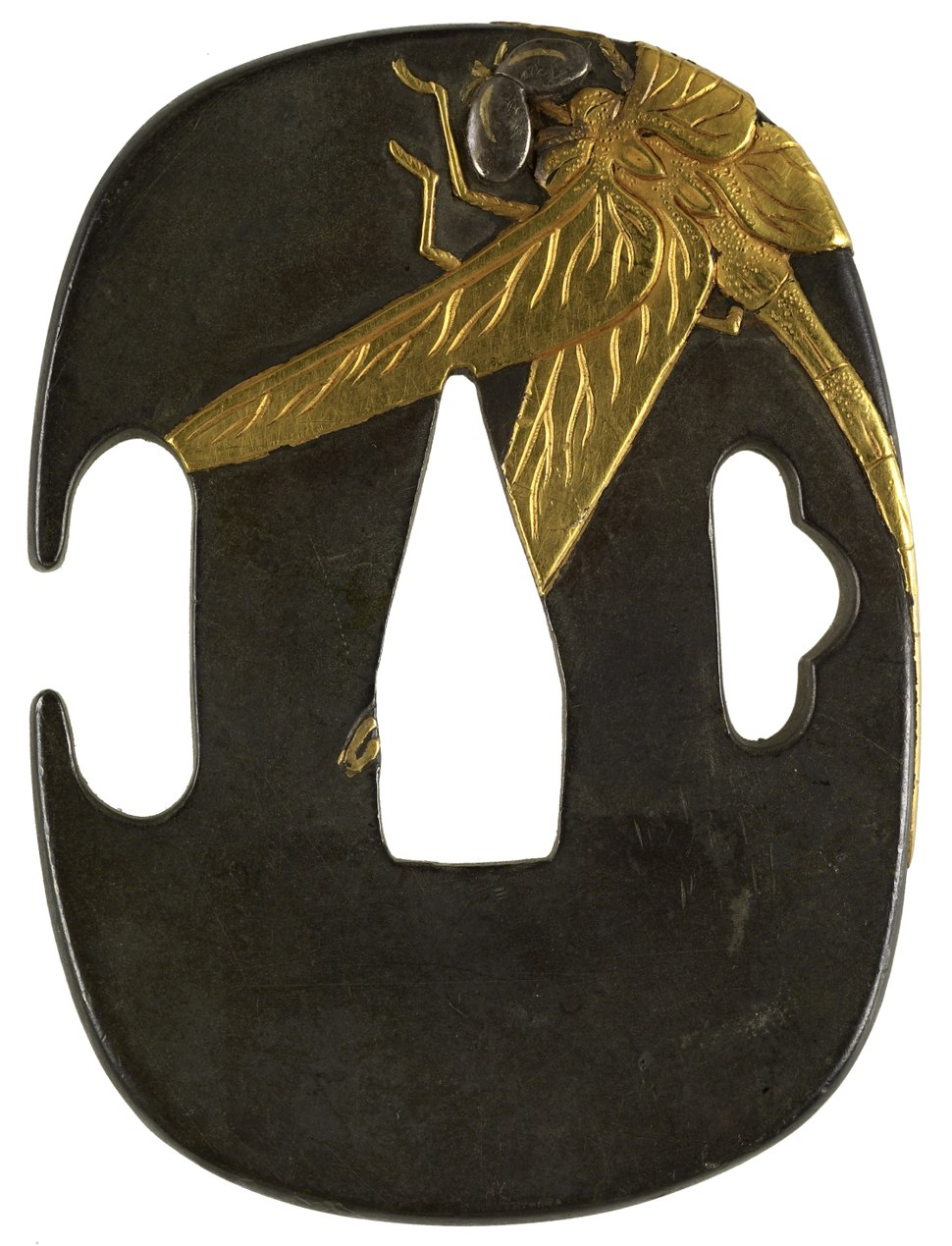 Japanese - Tsuba with a Dragonfly - Walters 51254 (clean)