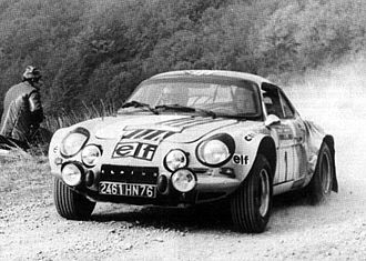 1973 Rallye Sanremo - Jean-Luc Thérier, winner with his Alpine-Renault A110