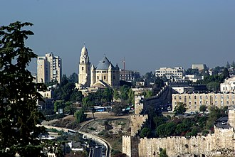 Mount Zion - View of Mount Zion from Mount of Olives