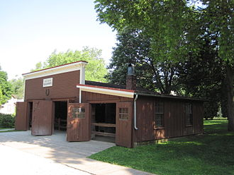 West Branch, Iowa - Reconstructed Jesse Hoover blacksmith shop.