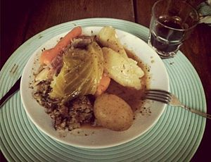 Bacon and cabbage - Jiggs dinner