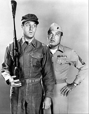 Gomer Pyle - Gomer as a new recruit under Sergeant Carter's evaluation.